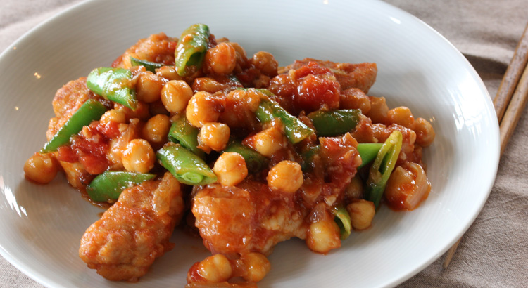 【お料理キットレシピ】大山鶏とひよこ豆のトマト煮ココナッツバター風味